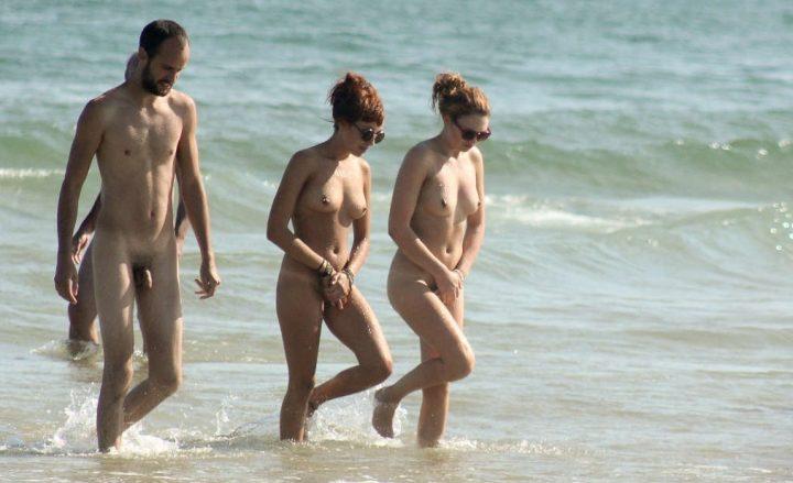 Think, Nudist beach studland