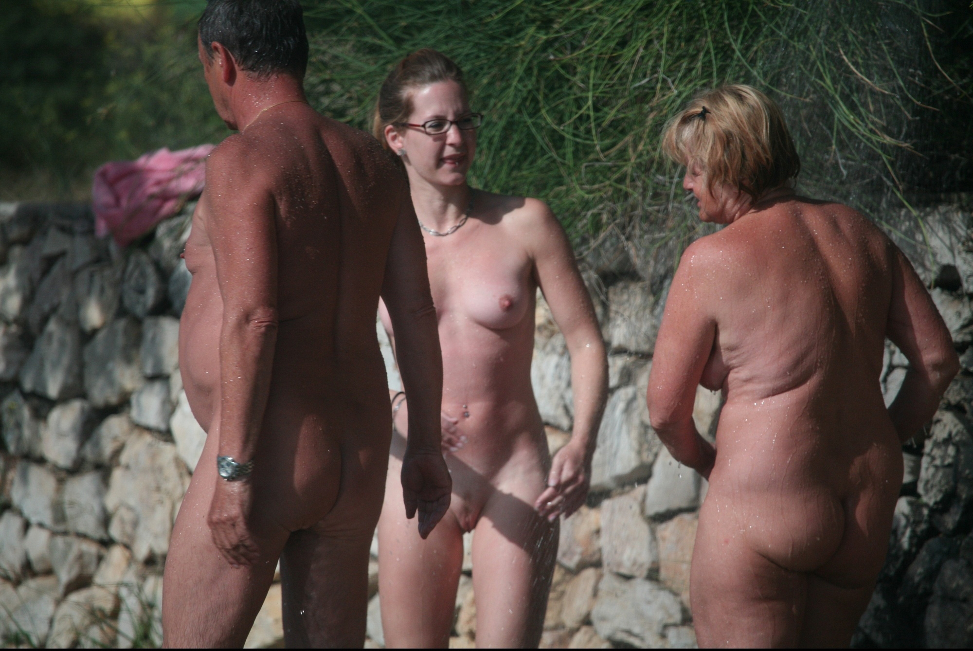Nude family feel, group male sex