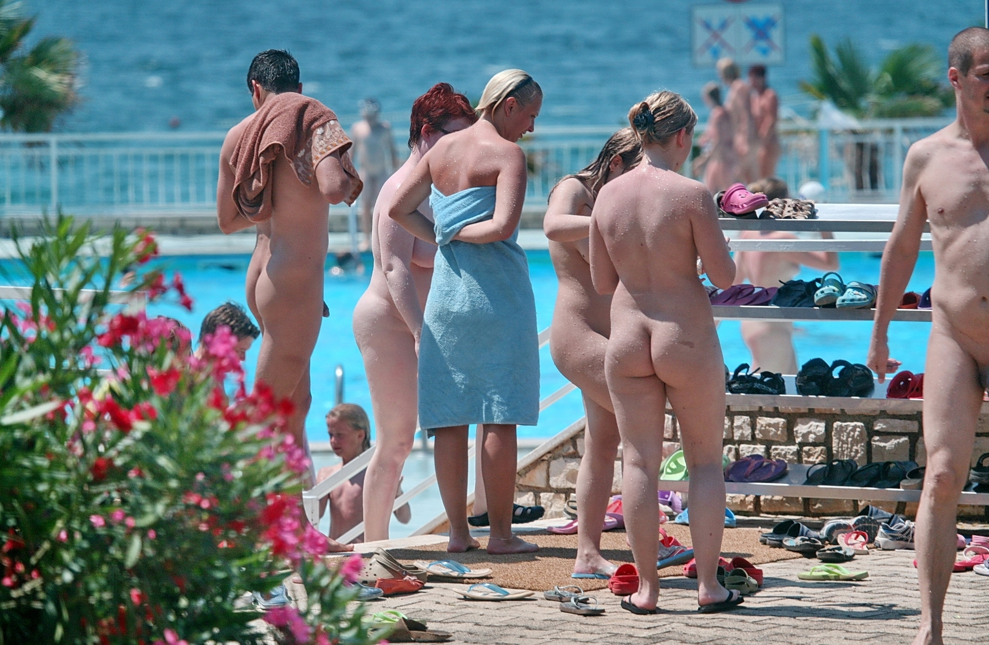 Naked Camp - Nudists Pool - Voyeurpapa-6444