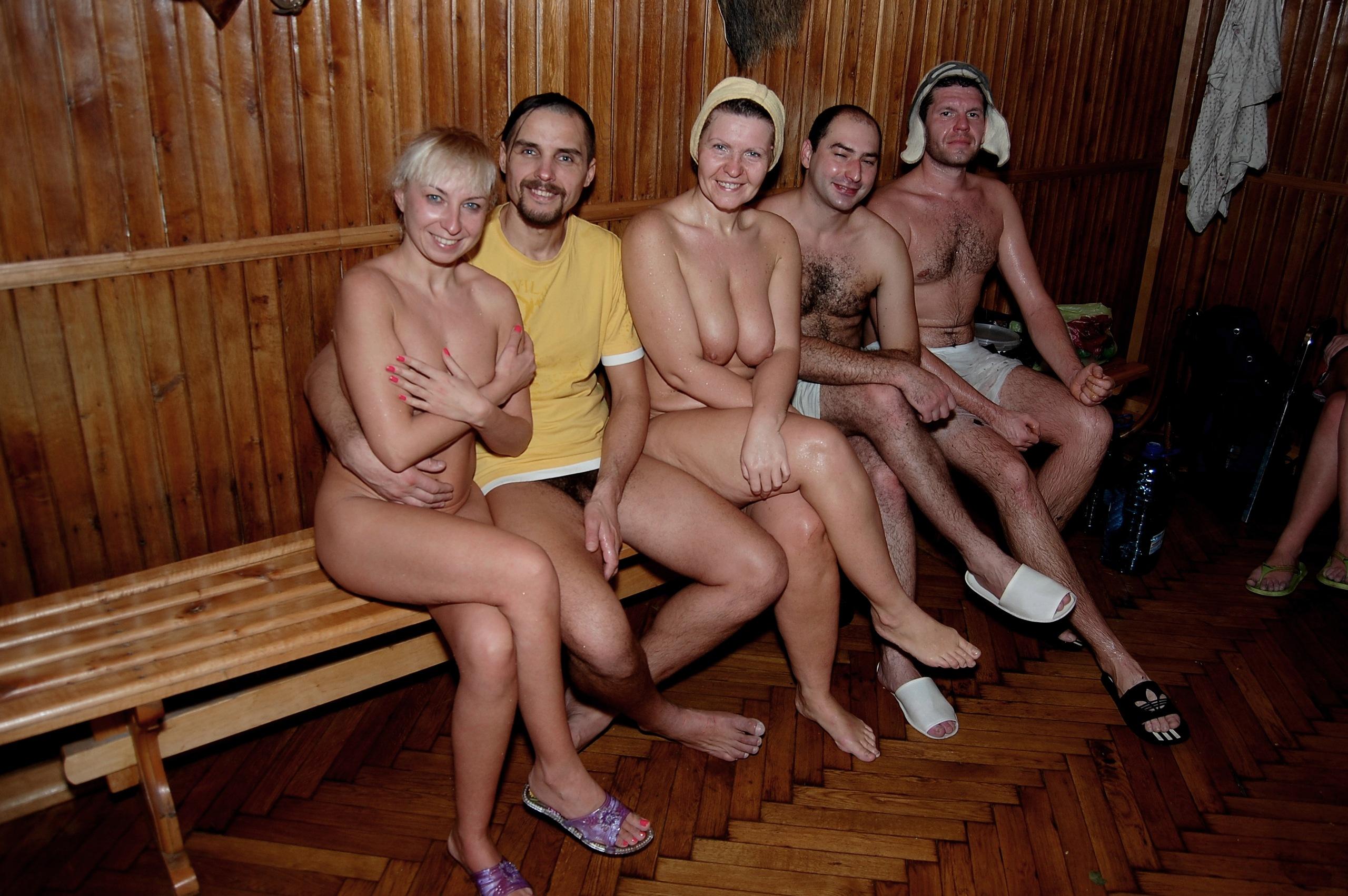 Group naked sauna, free krissy lynn lesbian porn