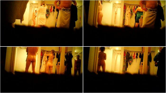 Caught naked on bathroom spycam