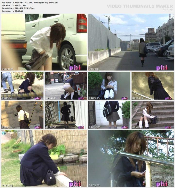 Jade Phi – P21-06 – Schoolgirls Rip Skirts
