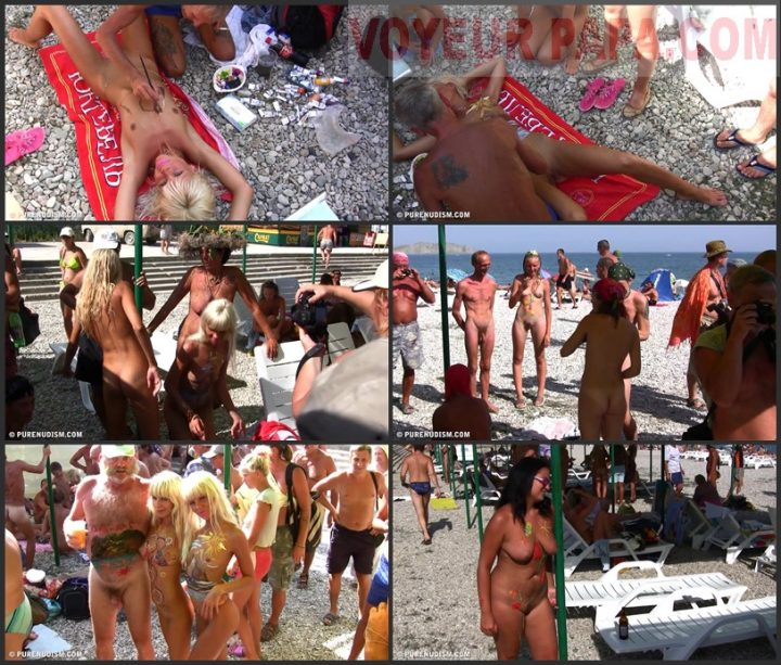Family Pure Nudism Nudist Art Beach Party 2
