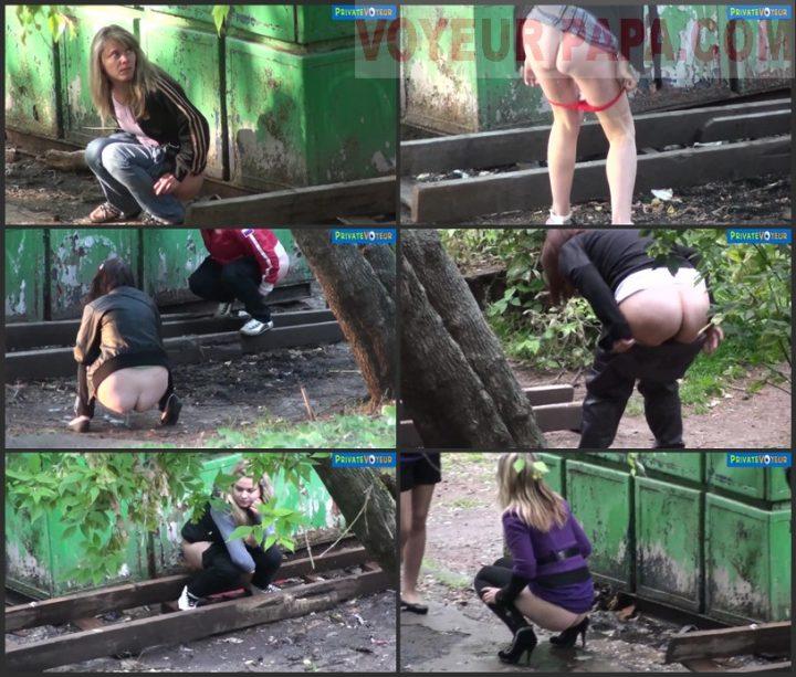 Women Peeing Outdoors
