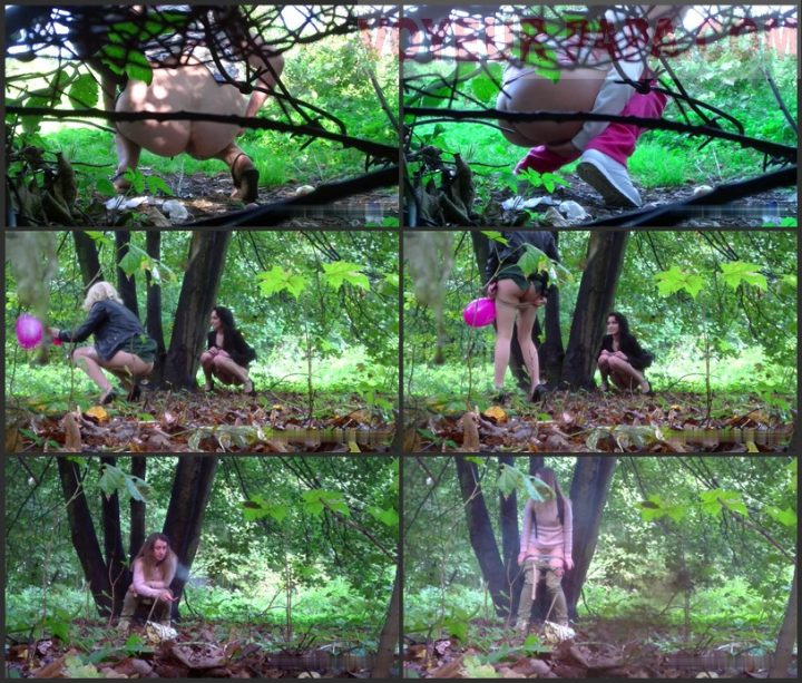 Women pee in the park 10