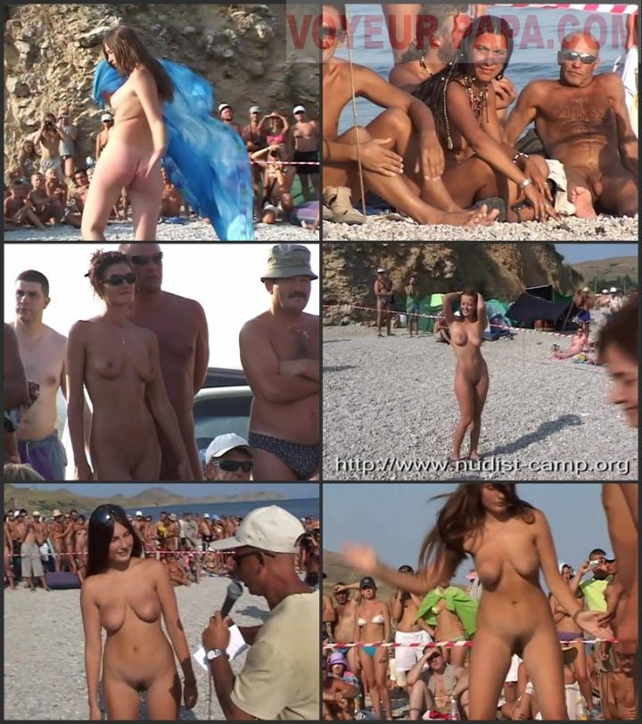 Family Pure Nudism Dance Competition in Koktebel