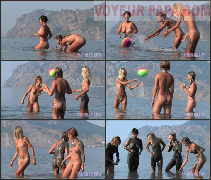 Family Pure Nudism Candid-HD – Mom Daughter Beach Games 1.vol 1