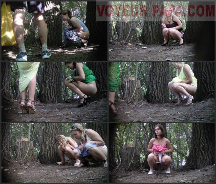 Women pee in the park 2